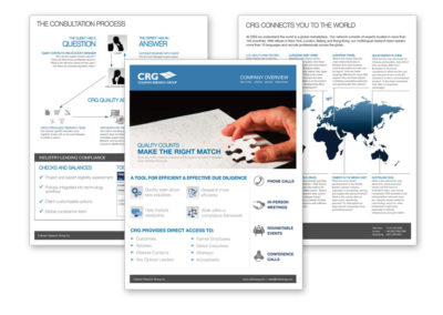 Sell Sheet Design for Coleman Research Group